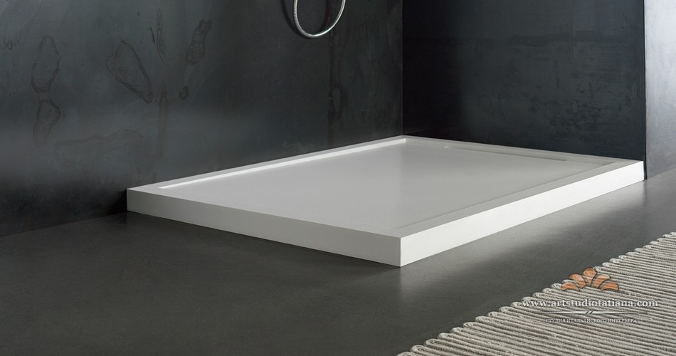 Flow shower tray
